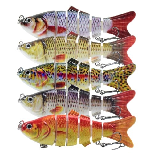 Lixada 5pcs iscas de pesca baixo