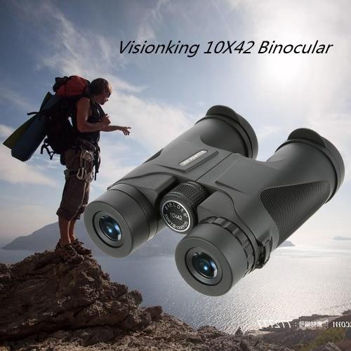 Visionking 10X42 di caccia di campeggio Tetto Binocular Telescope Scope Spotting