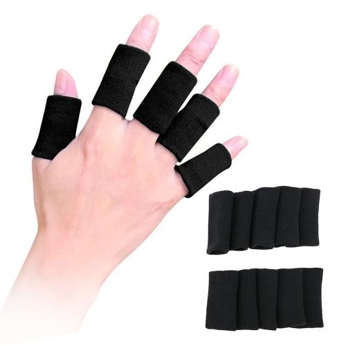 10шт спортивные Finger Wrap Мужчины Женщины Протектор большого пальца скобка эластичный палец палец