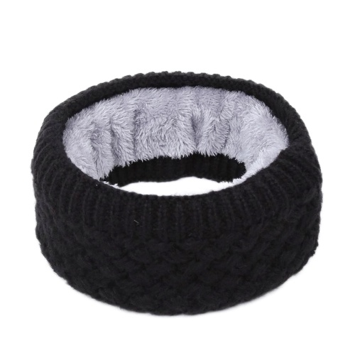 Winter Ribbed Knitted Circle Loop Ring Scarf Neckerchief