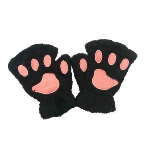 Donna Super Lovely Bear Plush Cat Paw Claw Glove