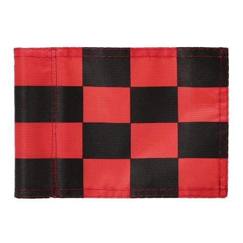 Banderas de golf a cuadros de color puro