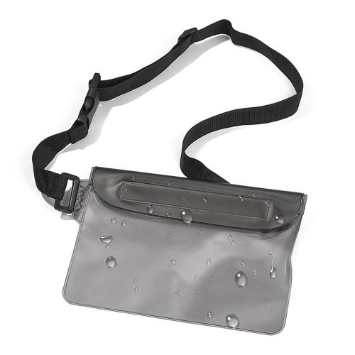 Bolsa impermeável com cintura ajustável Bolsa de cintura impermeável com design 3-Zipper