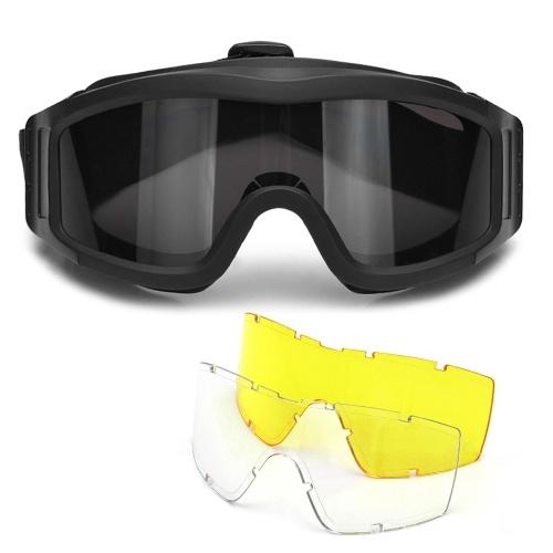Óculos de proteção ao ar livre militar uv400 óculos de proteção