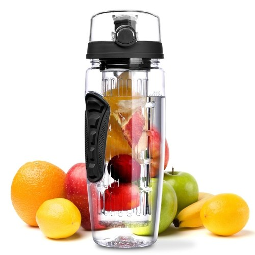 Sport Infuse Water Bottle Flip Tops Lid Dual