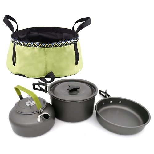 Outdoor 10Pcs Camping Panelas Mess Kit