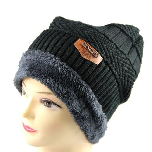 Chapéu de tricô quente de inverno para homens