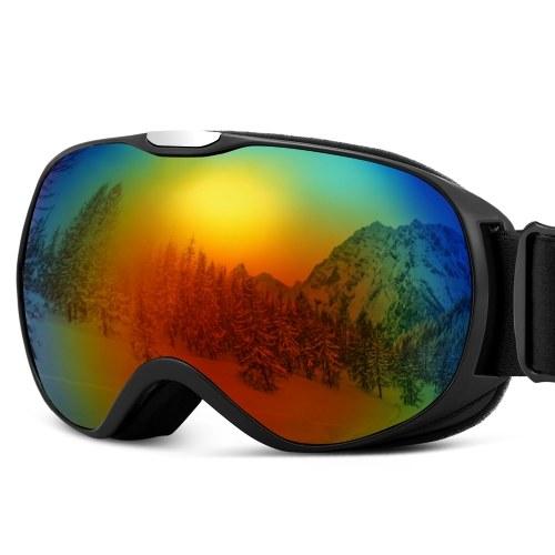 Kinderskibrille Anti-Fog-Doppelglas-Skibrille