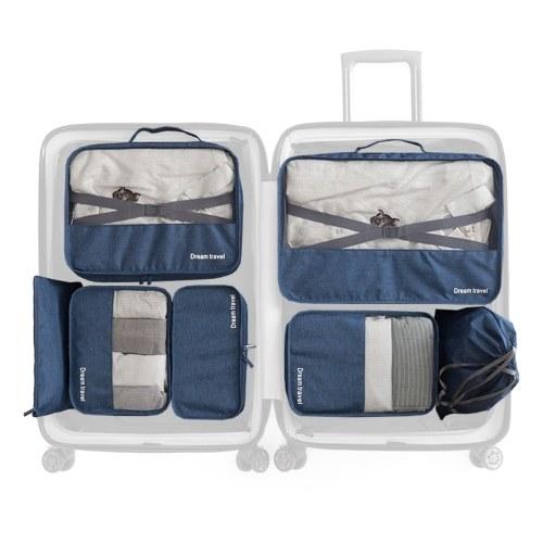 7 PCS Travel Luggage Packing Bag Set