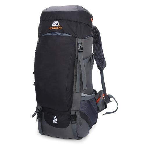Mochila de caminhada 65L à prova d 'água para esportes ao ar livre, mochila de dia para homens, mulheres, acampamento, trekking, turismo