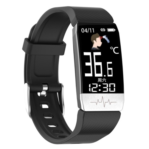 T1S Body Temperature Detection Intelligent Bracelet Multi-Function Body Health Monitor IP67 Waterproof Sport Bracelet