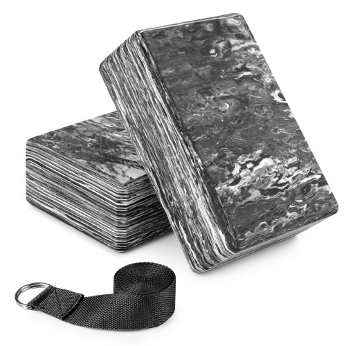 2 Pack Camouflage Yoga Blocks with Yoga Strap