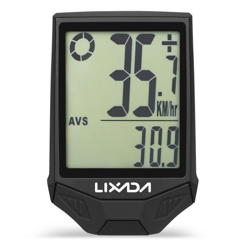 LIXADA Wireless Bike Computer Mountain Bike Speedometer Odometer IPX6 Waterproof Cycling Measurable Temperature Bike Stopwatch