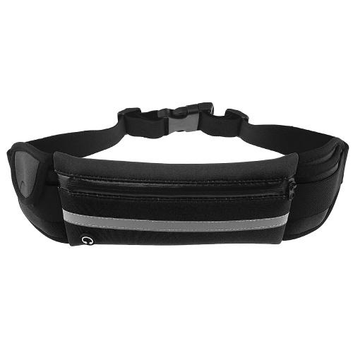 Cinturón multifuncional Cintura Ultraligera Cintura Bolsa Impermeable Gimnasio Soporte para teléfono Celular Bolsa Cintura Bolsa Banda para correr Bolsa para correr al aire libre Bolsa de montar