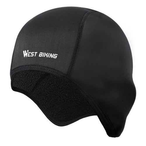 WEST BIKING Winter Cycling Cap Windproof Thermal Fleece Running Skiing Motocycle Head Hat Headwear Bandana Bike Warm Caps