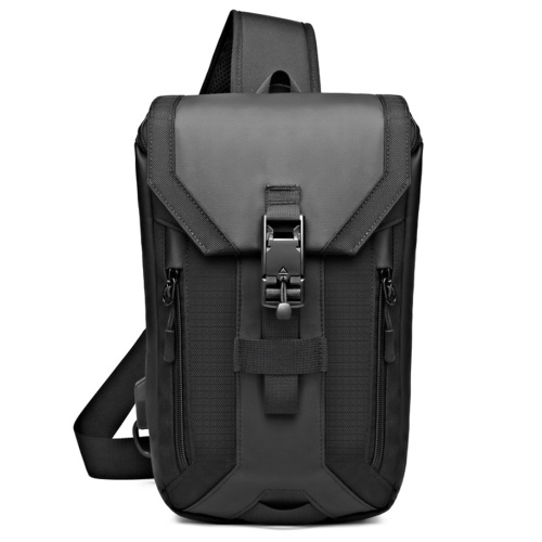 ozuko New Style Man Chest Pack USB Waterproof Fashion Single Shoulder Man Outdoor Multi-Function Small Pack