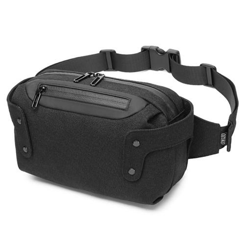 ozuko New Style Sport Taillenpackung Wasserdichte Herren-Brustpackung im Freien USB Leisure Single Shoulder Pack
