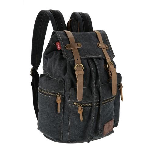 TOMSHOO Multifunktionssegeltuch-Rucksack Vintage-Umhängetasche Reisetasche im Freien Freizeit Rucksack-Männer Laptop-Rucksack