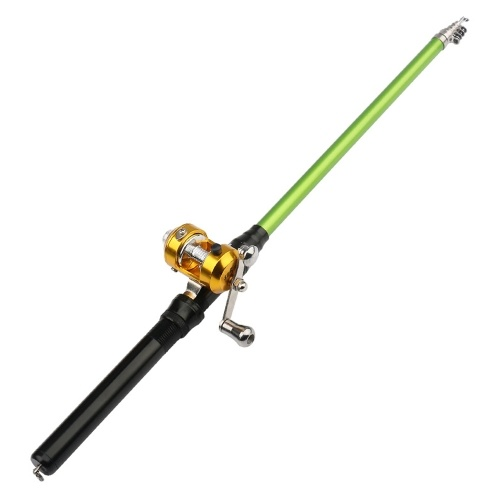 Mini Detachable Fishing Rod Portable Aluminum Alloy Fishing Pole with Spinning Kit Fishing Accessories