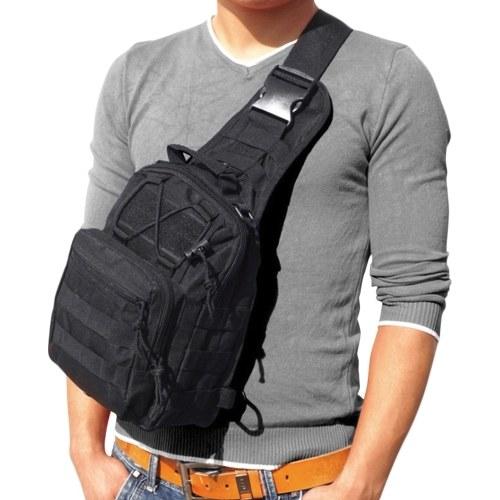 Herren Outdoor Rucksack Sporttasche Reißverschluss Verstellbare Stappy Schulterrucksack Tasche Brusttasche