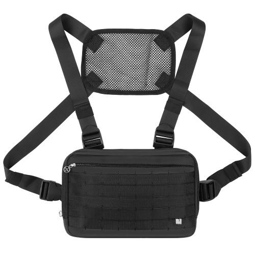 Спортивная нагрудная сумка для спорта на открытом воздухе, тактическая нагрудная сумка, рюкзак для бега без рук, жилет, регулируемое плечо, держатель для радио