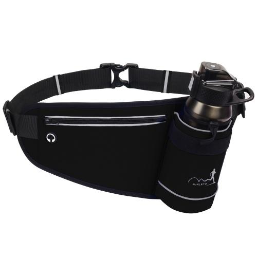 Поясная сумка на пояс для спорта на открытом воздухе с держателем для бутылки с водой для бега Бег Туризм Кемпинг Велоспорт Ходьба