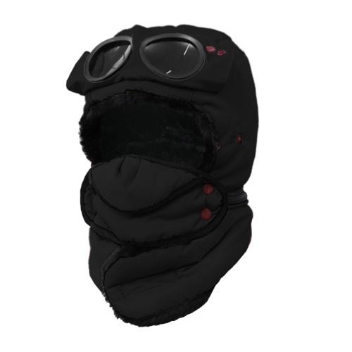 Winddichte Kinder Wintermütze Trapper Mütze mit Gesichtsschutz Ushanka Hut Bomber Cap für Jungen Mädchen