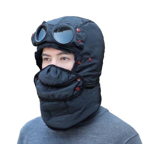 Ветрозащитная зимняя теплая шапка-ушанка с крышкой для лица шапка-ушанка Бомбер для мужчин и женщин
