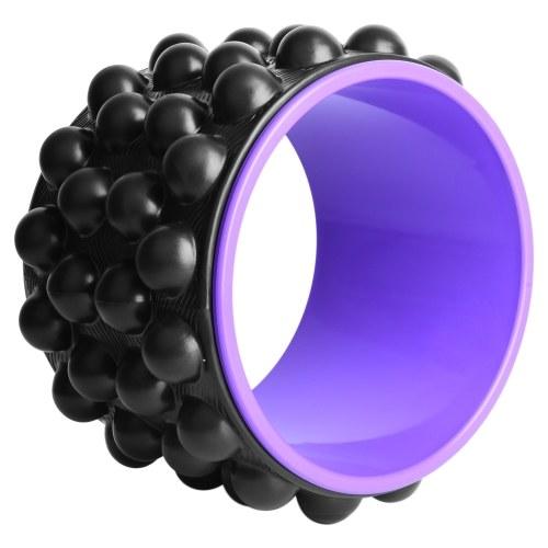2 em 1 roda de ioga com bola espigada rolo traseiro para liberação de massagem de tecido profundo alívio de fascite