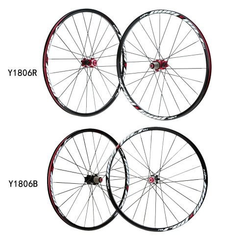 26'' 24H Disc Brake Bike Wheel Mountain Bicycle MTB Bike Wheelset Hubs Rim Front Rear