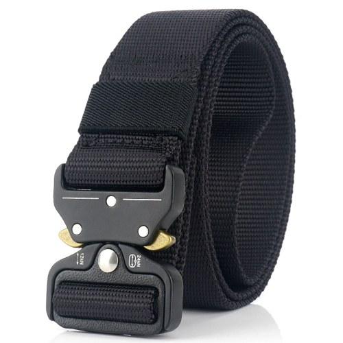 Herren Canvas Webgürtel Verstellbarer Schnellverschluss Metallschnalle Gewebtes Gurtband Casual Pants Jeansriemen