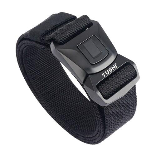 Men Belt Adjustable Length Multifunctional Wearproof Breathable Outdoor Sports Belt