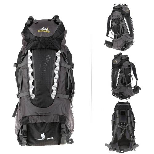 ハイキング トレッキング 70 + 10 L アウトドア スポーツ バックパック袋ナップザックを登山キャンプ旅行防水パック登山