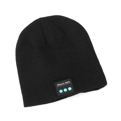 BT Music Cap Sombrero con auriculares inalámbricos Hablando y escuchando canciones Sombrero de tejer Sombrero cálido Sombrero de punto cálido