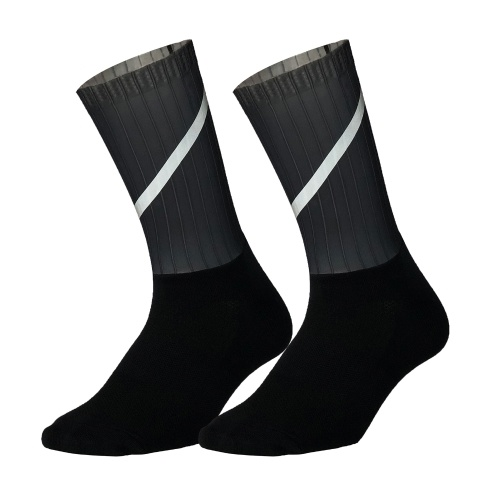 Велосипедные носки унисекс со светоотражающими полосами, нескользящие силиконовые дышащие носимые носки, спортивные спортивные чулки для бега, велоспорта
