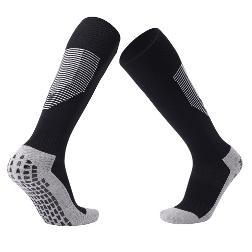 Cushion Football Socks Over the Calf Non Slip Grip for Soccer Ski Basketball Cycling Sports Athletic Compression Knee Socks