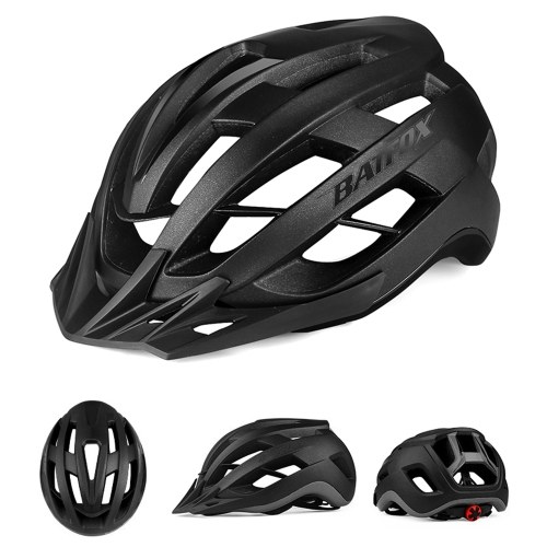 Bike Helmet Lightweight Adjustable Cycling Helmet Mountain Road Bike Helmet with Detachable Sun Visor Quick-Release Unisex