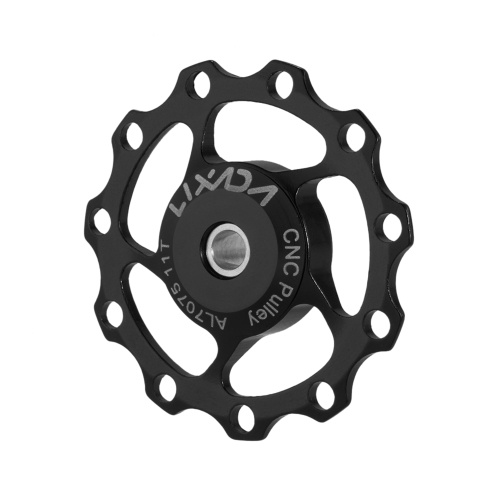 ​Lixada 1pc 11T Rear Derailleur Guide CNC Aluminum Alloy Pulley Jockey Wheel Disc Sealed Bearings Pulley Replacement
