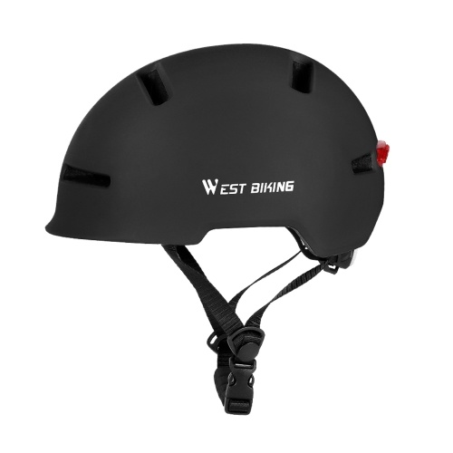 Adjustable Bike Helmet with Taillight In-mold Cycling Helmet with Rear Light  Men Women Commuting Helmet with Soft Removable Lining   Pad Image