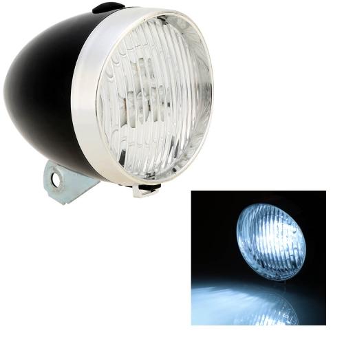 3 LED bici bicicletta luce frontale dell'annata fari stile antico