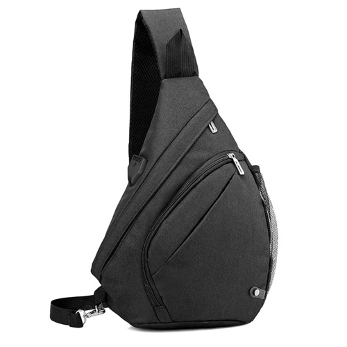 Мужская сумка-слинг, рюкзак, сумка через плечо, дорожный рюкзак с USB-портом для зарядки, для пеших прогулок, альпинизма, велоспорта