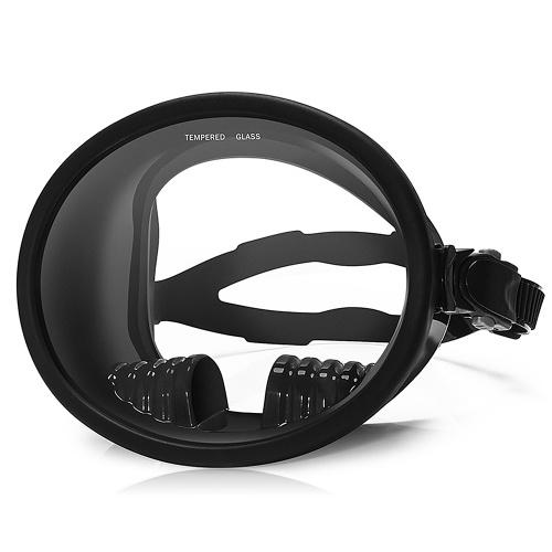 Маска для подводного плавания с широким обзором 180 ° Большая рамка Водонепроницаемые и противотуманные линзы для лучшего обзора Подводная охота Подводное плавание Подводная охота Полная маска для дайвинга