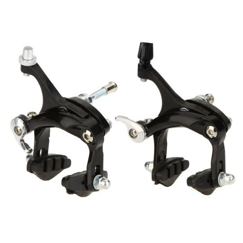 2 peças de liga de alumínio ao ar livre mountain bike bicicleta pinça de borracha conjunto de freio dianteiro e traseiro