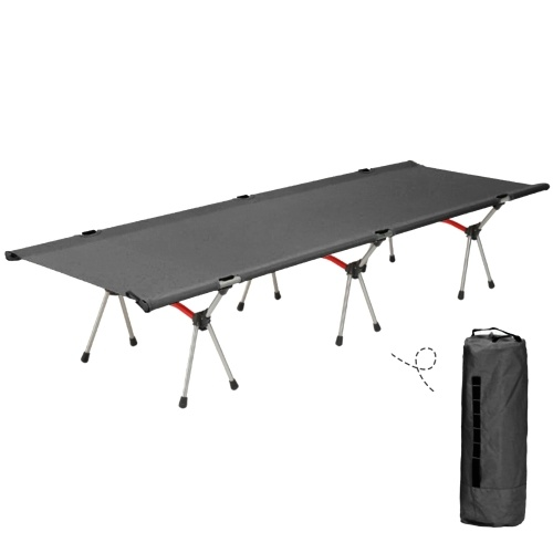 キャンプハイキングバックパッキングのための屋外ポータブル折りたたみキャンプコットスリーピングベッド