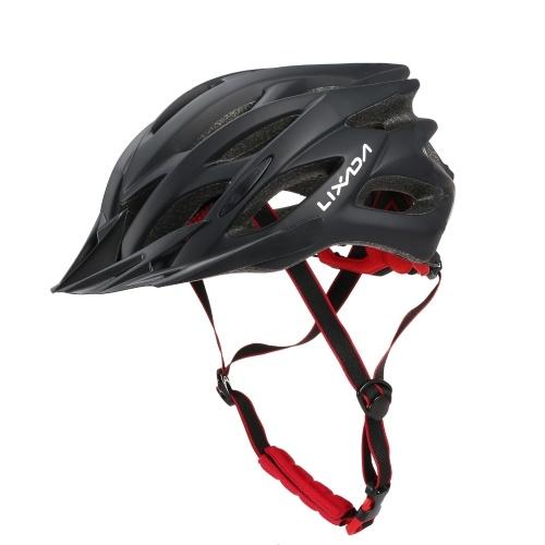 Casco de ciclismo transpirable Lixada con visera para mujeres y hombres, casco de seguridad ligero, casco de bicicleta para bicicleta de montaña, bicicleta de carretera