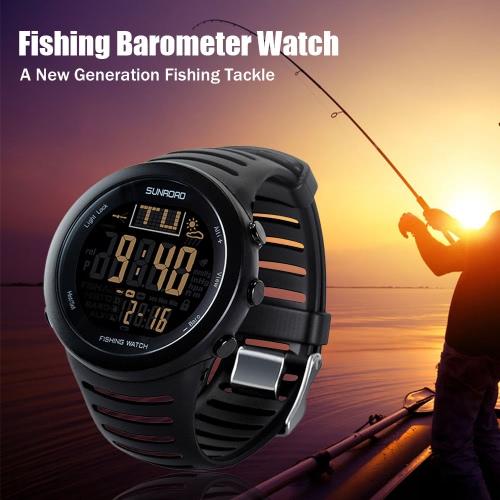 Sunroad Digital Pesca Guarda barometro Altimetro Termometro Previsioni Meteo multifunzionale Guarda
