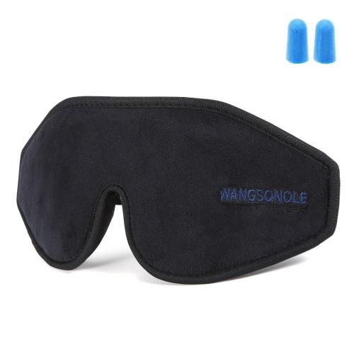 Sleep Eye Mask 3D Contoured Cup Sleeping Mask Concave Molded Night Sleep Mask Soft Comfort Eye Shade Cover for Travel Home Yoga Nap