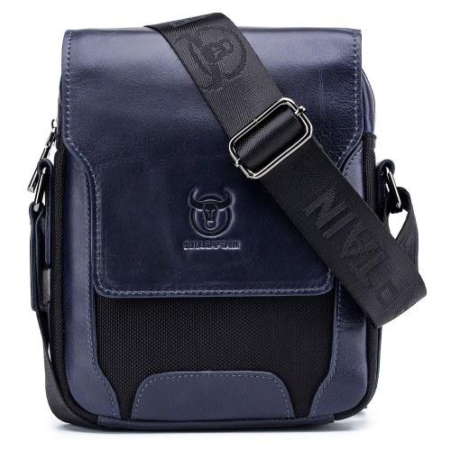 Men Stylish Leather Shoulder Bag Crossbody Messenger Bag for Commuting Working Business Travel