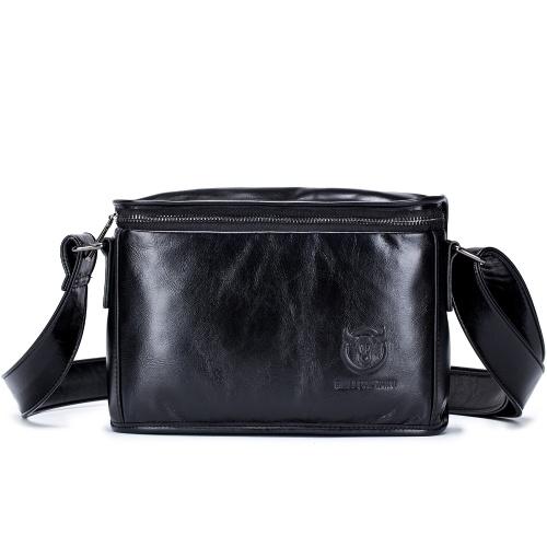 メンズヴィンテージレザーメッセンジャーバッグ、カレッジワーク、ビジネストラベル、クロスボディショルダーバッグ