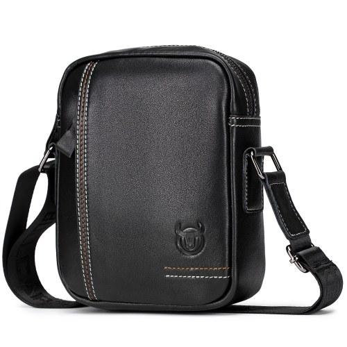 Men Vintage Leather Crossbody Bag Casual Messenger Satchel Bag for Commuting College School Business Travel